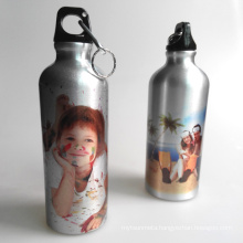 Sublimation Sports Bottle Silver Aluminum Water Bottle 500ML
